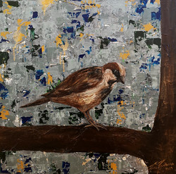 A bird on my abstract world nr4