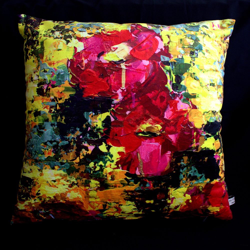 "Cushion ""Chaos and Flowers"""
