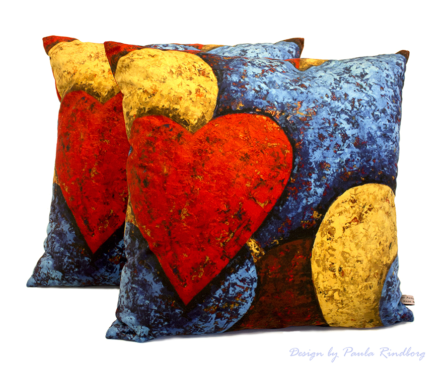 "Cushion ""Intensive Hearts"" - 47x47cm"
