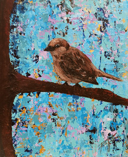 A bird on my abstract world 1