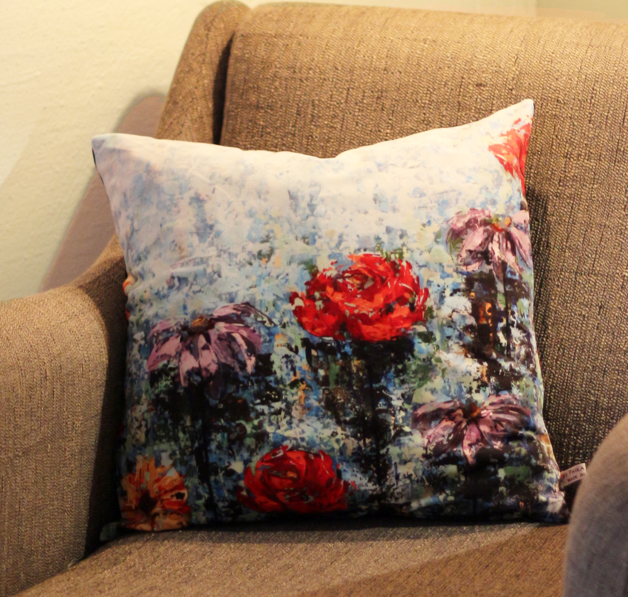"Cushion ""Blue Garden"""