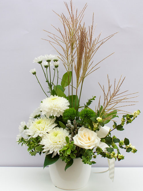Neutral - Medium Arranged Flowers