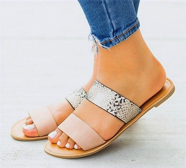 ATHENA DOUBLE BAND STRAPPY SANDALS