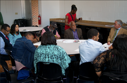 Civil Rights Symposium: Bob Moses presenting to students