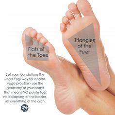 MadYogi Posters (triangles of the feet).