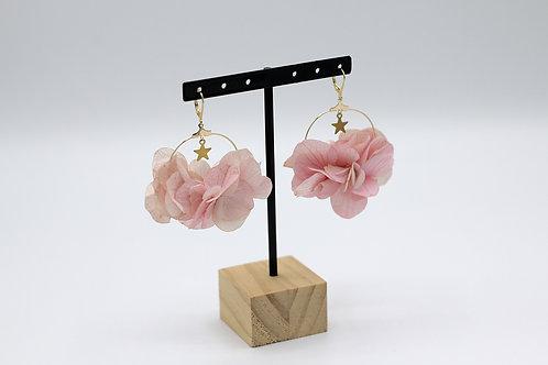 "Boucles d'oreilles""Hortense"" Rose"