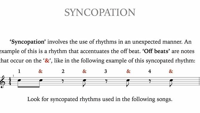 Understanding Syncopation