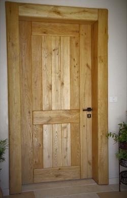 דלת עץ מסיבית 4