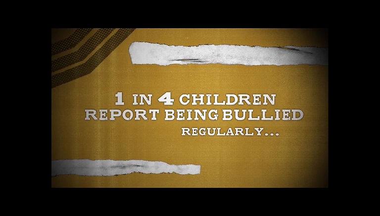 1 in 4 children report being bullied