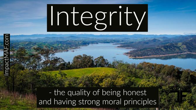 Black Belt Principle #3- Integrity