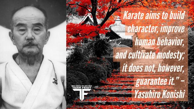 Yasuhiro Konishi Karate Quote