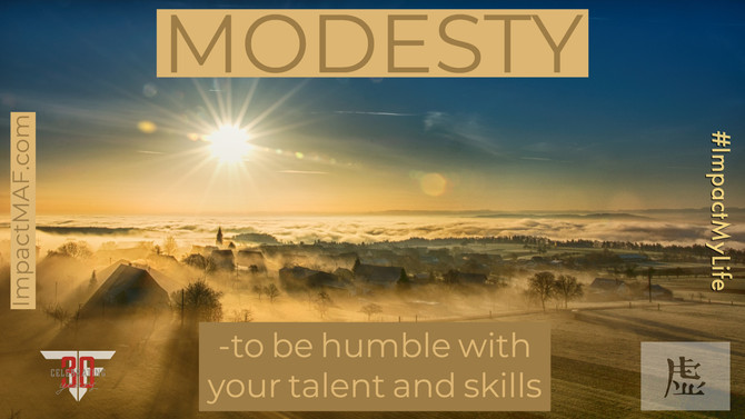 Black Belt Principle #1: Modesty