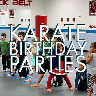 Karate birthday parties for kids 3 and up