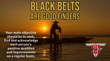 Black Belts are Good Finders