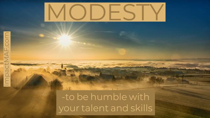 Black Belt Principle #1-Modesty
