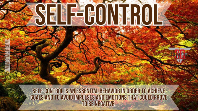 Black Belt Principle #4: Self-Control