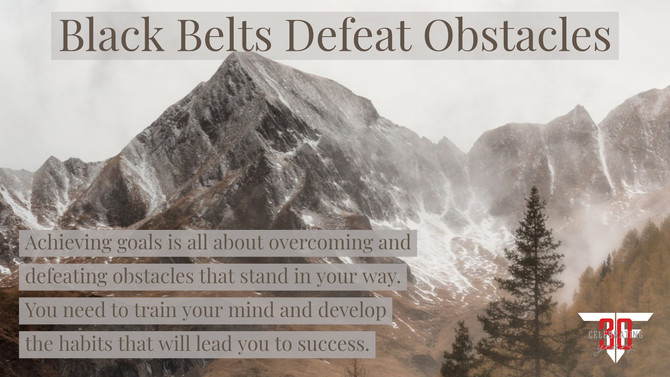 Black Belts Defeat Obstacles