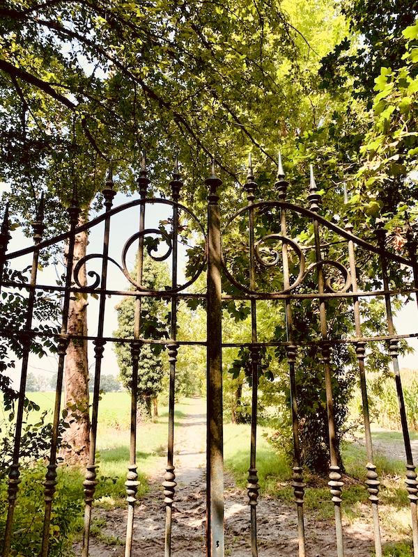 Gate to the Villa's Estate