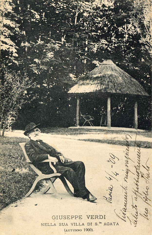 Giuseppe Verdi in the Garden