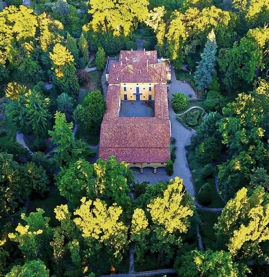 Aerial picture of Villa Verdi