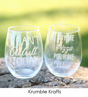 Customized Handmade Etched Glasses