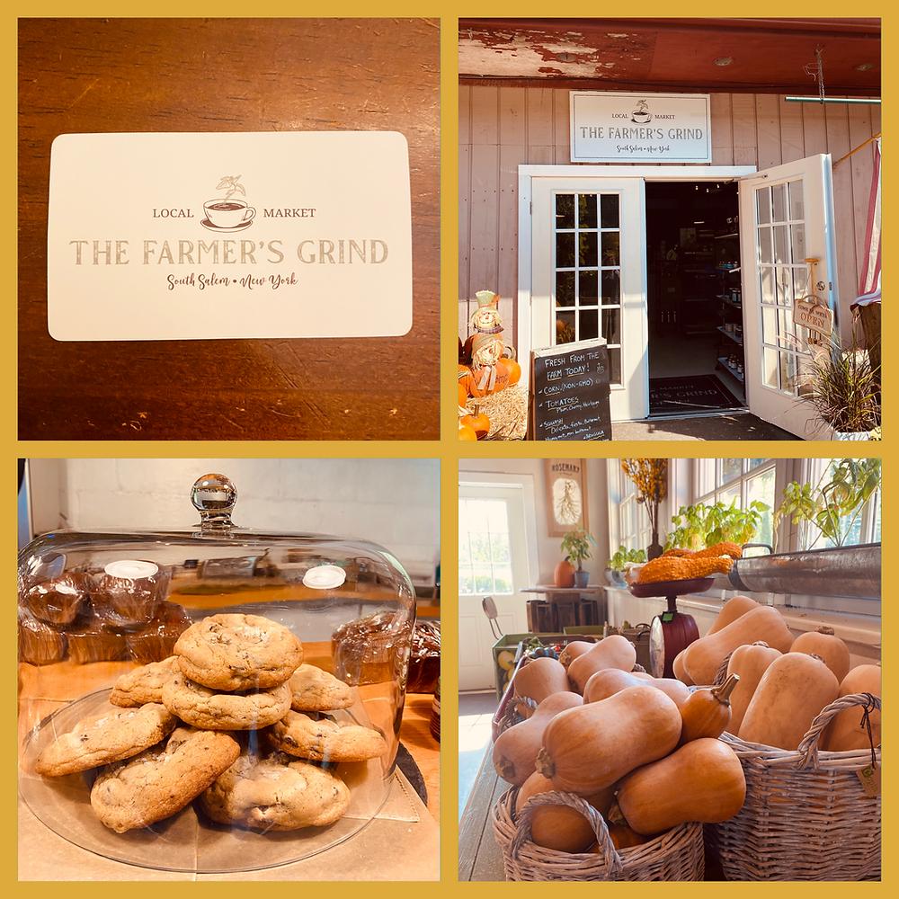 open door, fruit inside and business card
