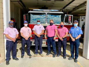 Ridgefield Firefighters Support Breast Cancer Awareness Month
