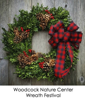 Holiday Wreath Making At The Woodcock Nature Center!