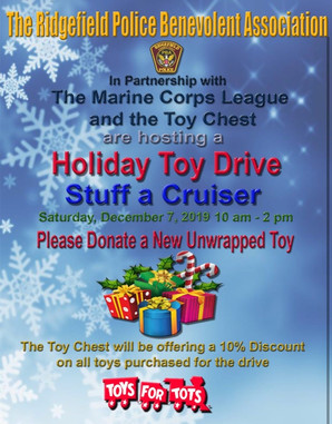 Ridgefield Police Benevolent Association's Holiday Toy Drive: Stuff a Cruiser