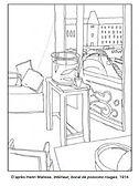 Coloriage-Henri-Matisse-Intérieur-boca