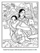 Coloriage-Paul-Gauguin-Nafea-faa-ipoipo-
