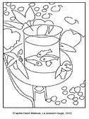 Coloriage-Henri-Matisse-Le-poisson-rouge