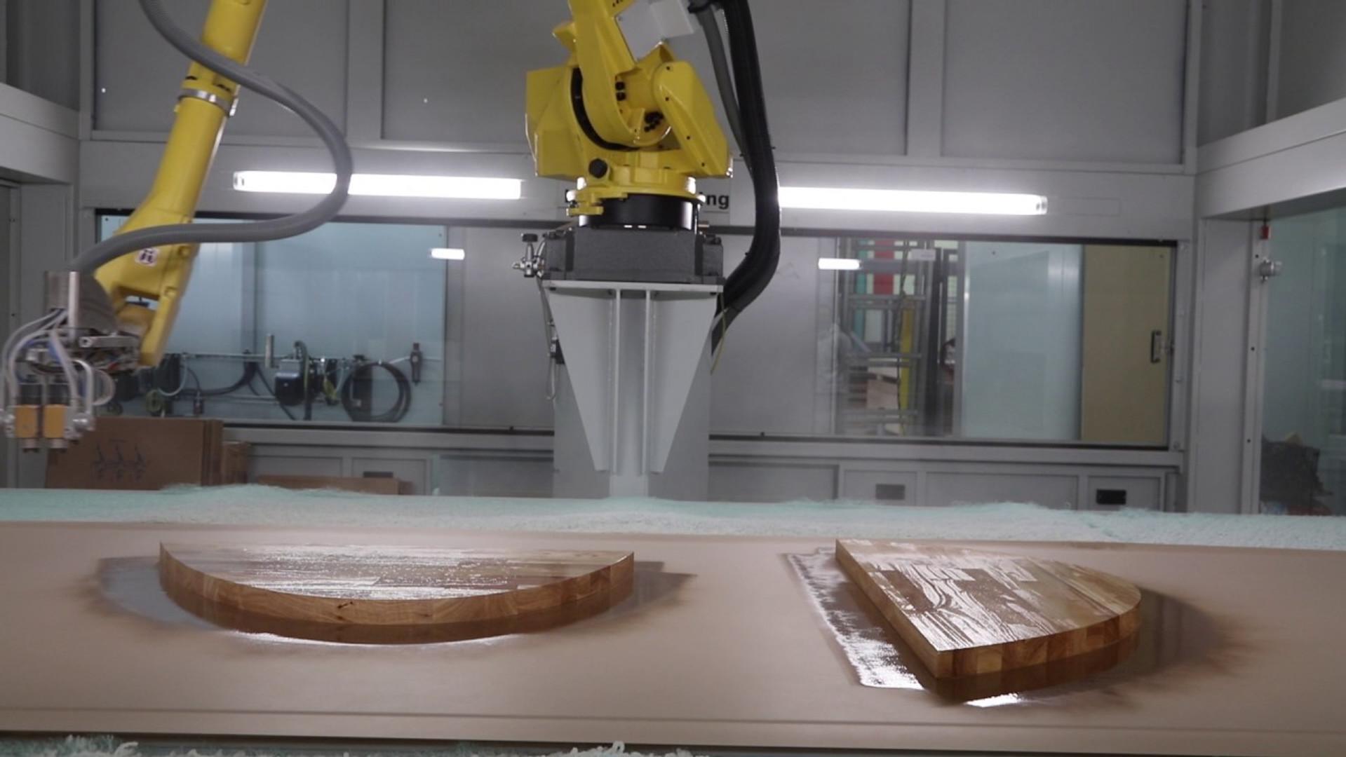 Varnishing robot
