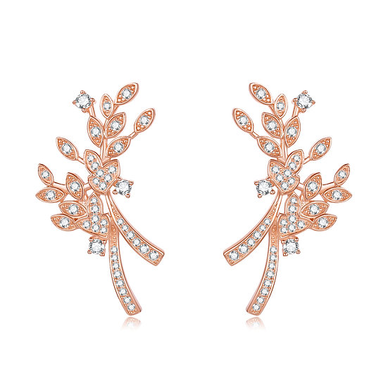 Summer Flowers Earing Rosegold
