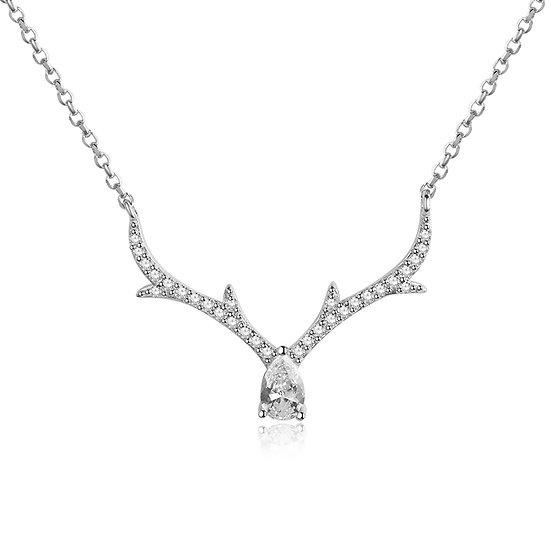 Deer necklace sliver