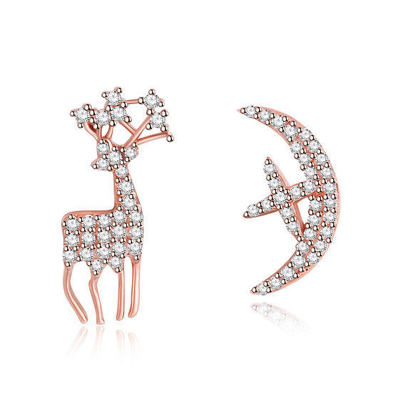 Deer Earrings 2 rosegold