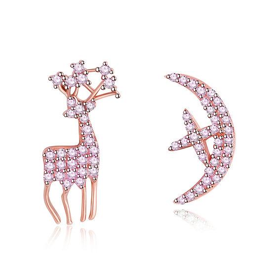 Deer Earrings 2 pink