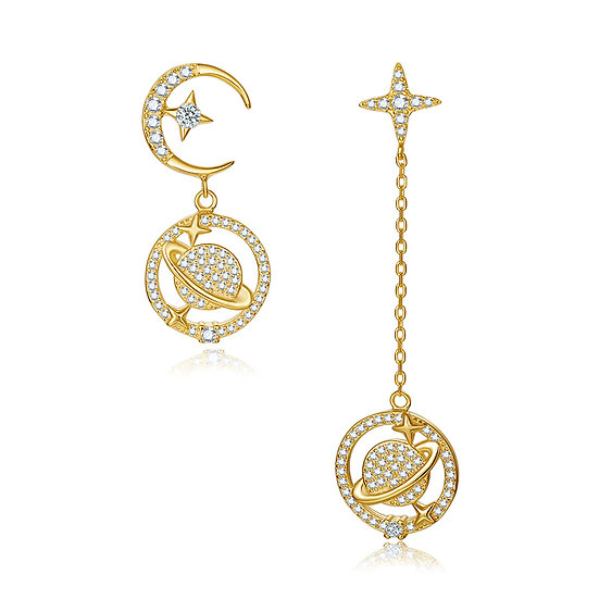 Saturn Earring 2 Gold