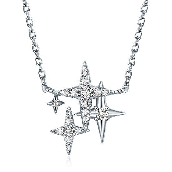 Stars necklace sliver