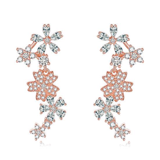 Summer Flowers Earring 3 Rosegold