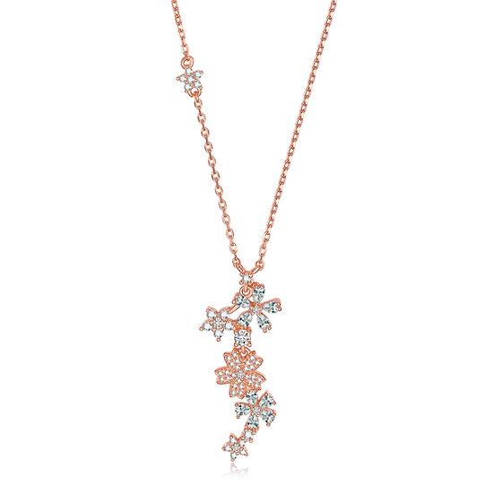 Summer Flowers Necklace Rosegold