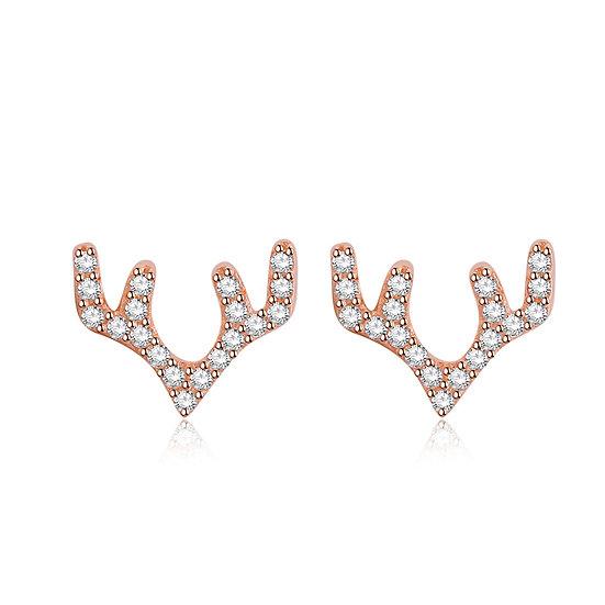 Deer Earrings rosegold