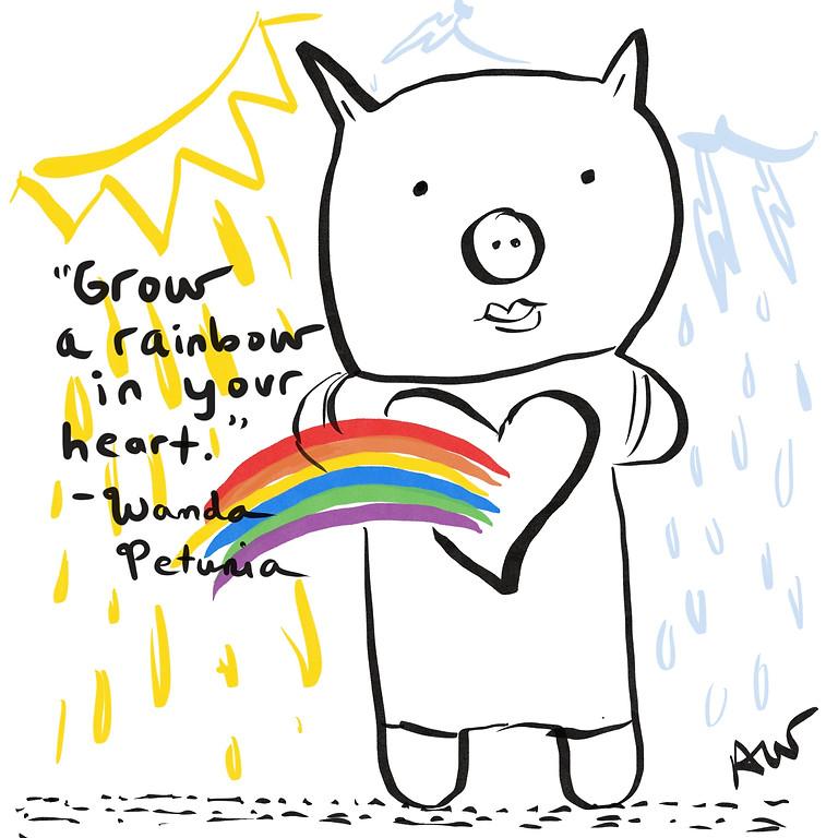 Wanda Petunia Rainbow Heart Online Class