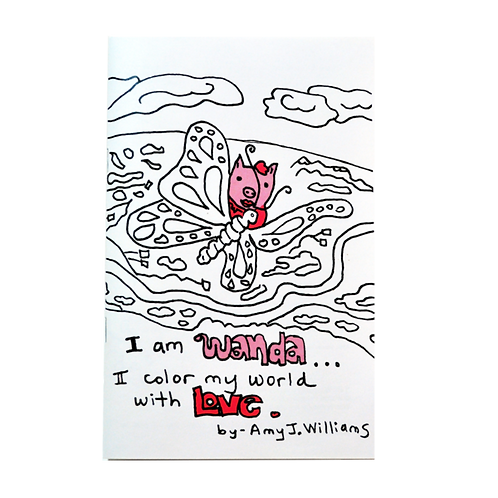 "Coloring book - ""I am Wanda... I color my world with Love"""