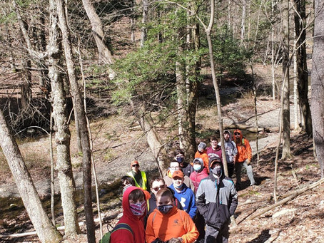 BSA Troop 300 Mountie Mountain Cleanup - Conservation Work
