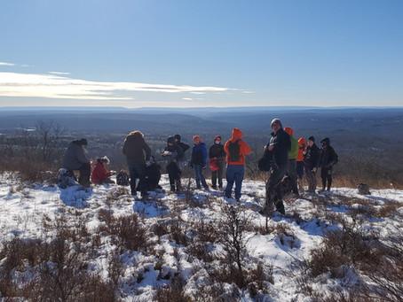 BSA Troop 300 Mount Wismer Winter Hike