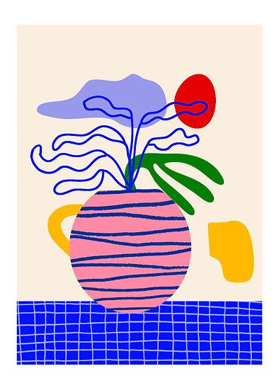 Stripped Vase