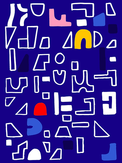 Abstract Blue Print