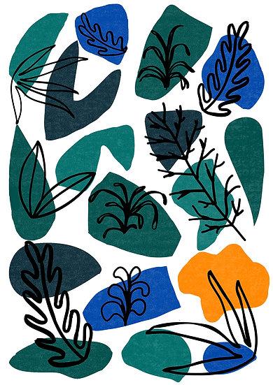 Garden Pattern Print