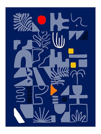 Organic Tiles Print